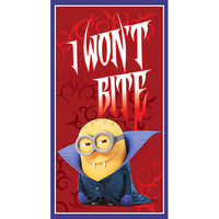 Minion Fabric QT Bite Me Minion Dracula Panel 5033