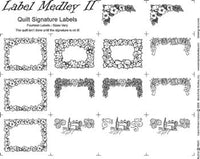 Block Party Studio Label Medley II white 2358 - Beautiful Quilt