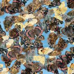 Butterfly Fabric Camelot Fabric Country Diary blue 2801