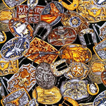 Western Fabric Belt Buckles Fabric 5514