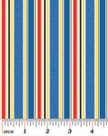 Stripe Fabric Benartex My Little Town 5139