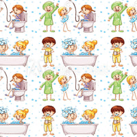 Children's Fabric, Custom Print Fabric, Cartoon Shower figures 20-5805 - Beautiful Quilt