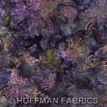 Batik Fabric Hoffman Fabrics flowers seaholly 2994
