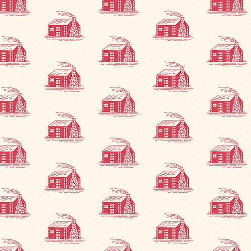 Reproduction Fabric Little House on the Prairie Houses 4868