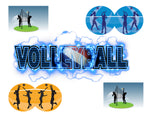 Sports Fabric Volleyball Fabric Words and Players 5718