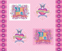 Print Concepts Fabric Pampered Girls panel pink 2873