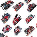 Fire Fighter Fabric, Custom Print Fabric, Fire Engine Fabric, Fire Truck 5767
