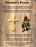 Fire Fighter Fabric, Fireman's Prayer 1858 - Beautiful Quilt
