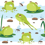 Animal Fabric, Frog Fabric, Bull Frog Fabric,  Fleece 2031 - Beautiful Quilt