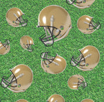 Sports Fabric, Football Fabric, Gold Helmets 1146 - Beautiful Quilt