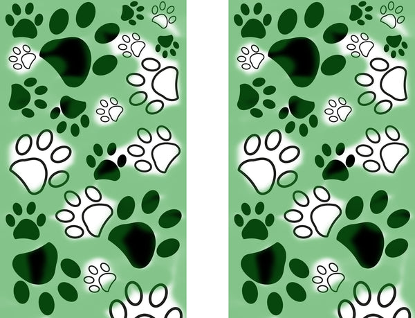 Dog Fabric, Paw Fabric, Green Border 1349 - Beautiful Quilt