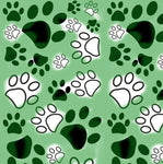 Dog Fabric, Paw Fabric, Green, Cotton or Fleece 1350 - Beautiful Quilt