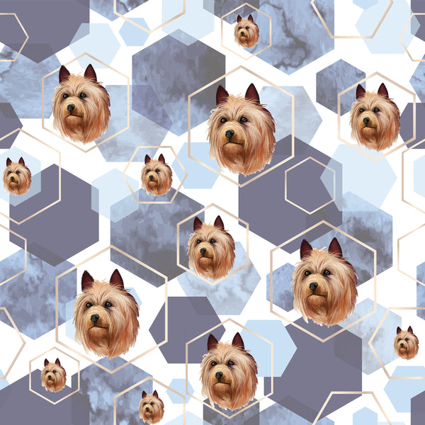 Dog Fabric, Australian Terrier, Cotton or Fleece, 3313 - Beautiful Quilt