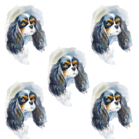 Dog Fabric, Cavalier King Charles Spaniel Fabric, Cotton or Fleece 1462 - Beautiful Quilt
