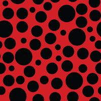 Lady Bug Fabric, Black Dots on Red Fabric, Cotton or Fleece 2083 - Beautiful Quilt