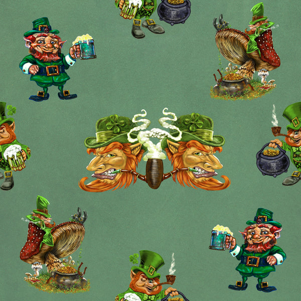 St Patrick Fabric, Leprechaun Fabric, Cotton or Fleece 1649 - Beautiful Quilt
