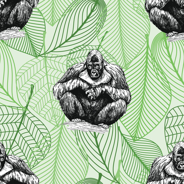 African Animal Fabric, Gorilla Fabric, Cotton or Fleece, 3416 - Beautiful Quilt