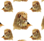 African Animal Fabric, Lion Fabric, Lion Head 1218 - Beautiful Quilt