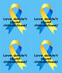 Down Syndrome Awareness Fabric, Love Doesn't Count Chromosomes, Cotton or Fleece, 3568 - Beautiful Quilt