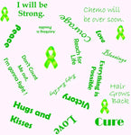 Cancer Fabric, Lymphoma Cancer Fabric, Encouraging Words, Cotton or Fleece 10106 - Beautiful Quilt
