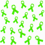 Cancer Fabric, Lymphoma Cancer Fabric, Green Tossed Ribbons, Cotton or Fleece 6003 - Beautiful Quilt