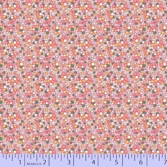 1930 Reproduction Fabric, Dot Fabric on Pink 10016 - Beautiful Quilt