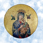 Catholic Fabric, Our lady of, Mary and Jesus on a sky background 1826