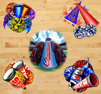 Sports Fabric, Cheerleader Fabric, Megaphones and Pom Poms 1155 - Beautiful Quilt