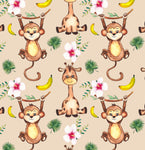 Children's Fabric, Monkey Fabric, Cotton or Fleece 1900 - Beautiful Quilt