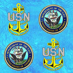 Military Fabric, US Navy Fabric, Seal and Logo, Cotton or Fleece 1175 - Beautiful Quilt