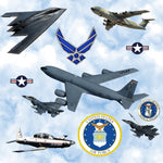 Military Fabric, Air Force Fabric, Airplanes of the United States, Cotton or Fleece 1336