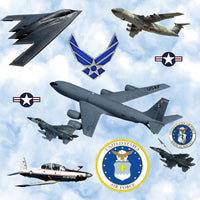 Military Fabric, Air Force Fabric, Airplanes of the United States, Cotton or Fleece 1336 - Beautiful Quilt