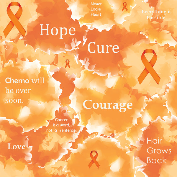 Cancer Fabric, Leukemia Cancer Fabric, Custom Print Fabric, Words 20-5902 - Beautiful Quilt
