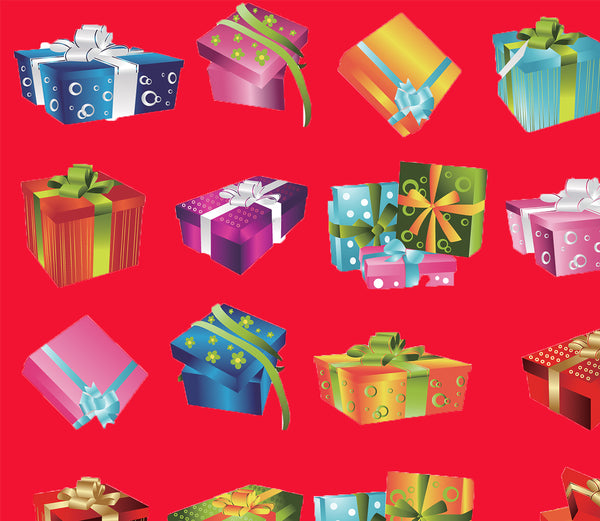 Christmas Fabric, Christmas Presents, Cotton or Fleece 3329
