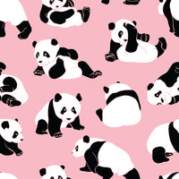 Children's Fabric, Animal Fabric, Panda Bear Fabric, Pink 1216 - Beautiful Quilt