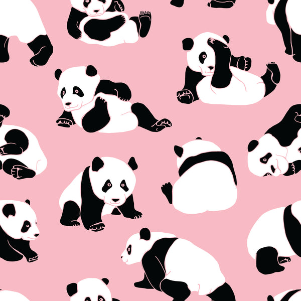 Children's Fabric, Animal Fabric, Panda Bear Fabric, Pink, Cotton or Fleece, 1216 - Beautiful Quilt