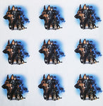 Police Fabric, Police Dog Fabric, Cotton or Fleece 1285 - Beautiful Quilt