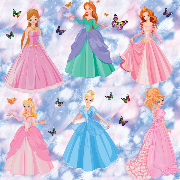 Princess Fabric, Multiple Princesses, Cotton or Fleece 1822 - Beautiful Quilt