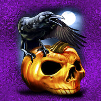 Halloween Fabric, The Raven and the Skull 1249 - Beautiful Quilt