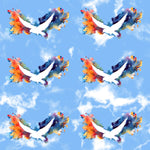 Religious Fabric, Dove with rainbow colors, Cotton or Fleece 2014 - Beautiful Quilt