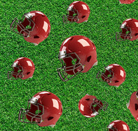 Sports Fabric, Football Fabric, Red Helmet Fabric 1136 - Beautiful Quilt