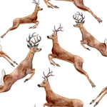 Wildlife Fabric, Deer Fabric, Reindeer Fabric, Watercolor Fabric, Cotton or Fleece 1242 - Beautiful Quilt