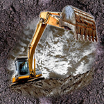 Truck Fabric, Construction Fabric, Dig out those Rocks 682