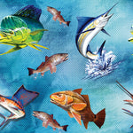 Ocean Fish, Fishing Fabric 1131 - Beautiful Quilt