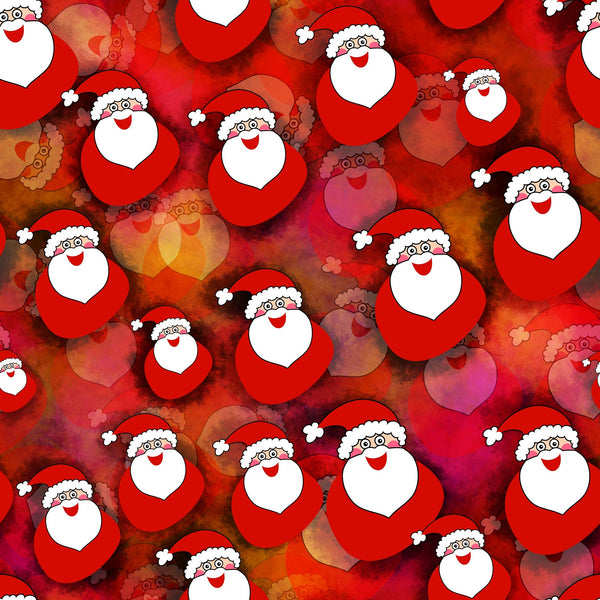 Novelty Christmas Fabric, Santa Fabric 1308