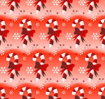 Christmas Fabric, Candy Cane Fabric 657