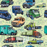 Truck Fabric, Semi-truck all over, cotton or fleece 1618 - Beautiful Quilt
