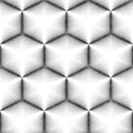 Black and White Fabric, Geometric Fabric 1360 - Beautiful Quilt