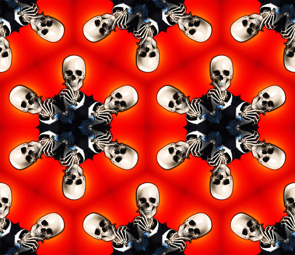 Halloween Fabric, Skull Fabric in Octagon Pattern, Cotton or Fleece 2027 - Beautiful Quilt