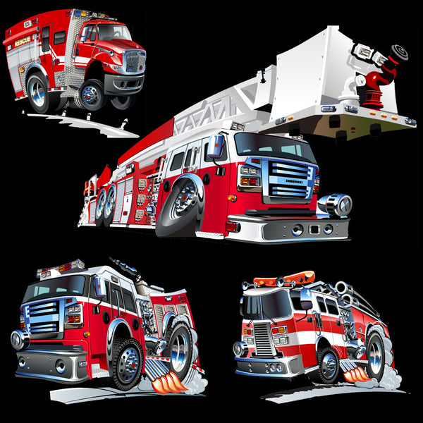 Fire Fighter Fabric, Souped up Engines, Cotton or Fleece, 3376
